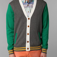 Urban Outfitters - Hawkings McGill Colorblock Varsity Cardigan