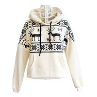 Hi,Showme  Women&#x27;s Deer Hooded Sweater Coat