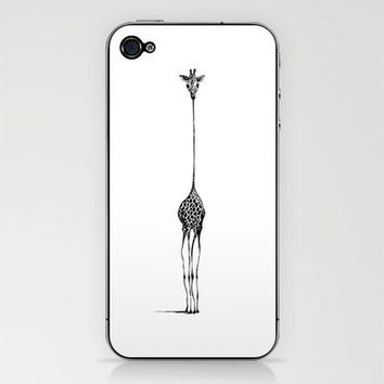 Giraffe iPhone & iPod Skin by Nicole Cioffe | Society6