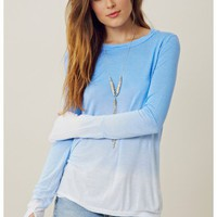 Pencey Long Sleeve Ombre Top