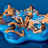 SportsStuff Pool N&#x27; Beach 6 Up Lounge:Amazon:Sports &amp; Outdoors