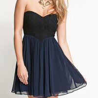 Love Rose Lace Chiffon Dress
