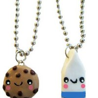 Cookies and Milk Best Friends Necklace - Set of 2 Included!:Amazon:Jewelry