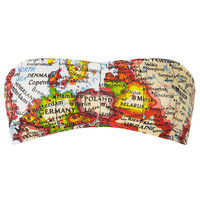 Map Print Bandeau - New In This Week - New In - Topshop