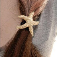 dotlife —  [gryxh31000311]cute sea star Hair Band Hair Ring