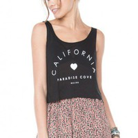 Brandy ♥ Melville |  Mirella Paradise Cove Tank - Graphic Tops - Clothing