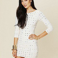 Free People  Long Sleeve Embellished Party Dress at Free People Clothing Boutique