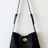 Out and About Hip Satchel, Black (with bonus detachable zipper bag inside)