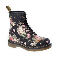 Womens Dr. Martens 8 Eye Flower Boot, Black Flower, at Journeys Shoes