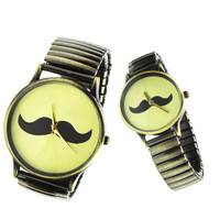 Moustache Logo Couple Watches
