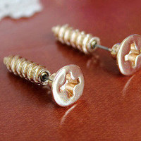 Unique Cute Screw Earrings For Two