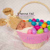 Easter Hat Ready to Ship 18 to 24 months Baby by crochetedcuddles