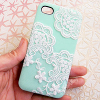 Handmade Lace Case For iPhone4/4S,iPhone5 from FloralKissing