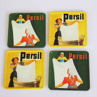 Set of 4 Persil coasters, great eclectic modern home decor