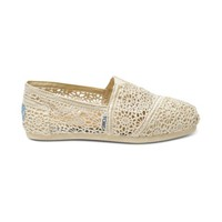 Womens TOMS Classic Crochet Slip-On Casual Shoe, Natural, at Journeys Shoes