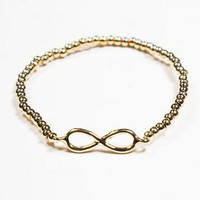 Brandy ♥ Melville |  Gold Infinity Beaded Bracelet