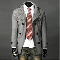 Casual Coat Jacket Grey/Black