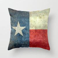 "The ""Lone Star Flag"" of Texas Throw Pillow by Bruce Stanfield"