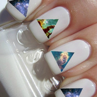 Galaxy Triangle Nail Decals