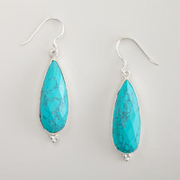 Turquoise Long Drop Earrings