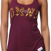 Diamond Supply Girls DMND Leopard Red Tank Top