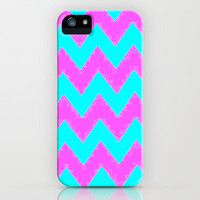 Mint and Pink chevron iPhone &amp; iPod Case by  Alexia Miles photography