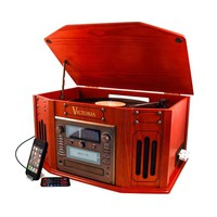 5-in-1 Entertainment Center with Built-in CD Burner
