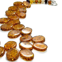 Mothers Day Drops of Amber Necklace Sunshine Honey Gold Summer Spring Golden