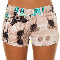 Blank NYC Denim Short Allover Floral Print in Multi