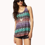Tribal-Inspired Racerback Tank | FOREVER 21 - 2037155713