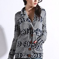 obey - women's wild within cardigan (dark navy) - obey | 80's Purple