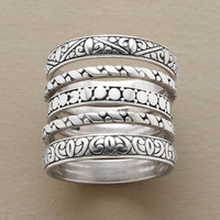 ENCHANTMENT RING QUINTET         -                  Stack         -                  Rings         -                  Jewelry                       | Robert Redford's Sundance Catalog