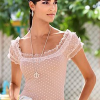Lace trim top  from VENUS