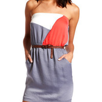 Charlotte Russe - Hammered Color Block Dress