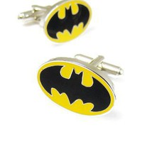 Black and Yellow Enamel Batman Cufflinks