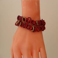 Burgundy - Dark Purple Bracelet - Special Design