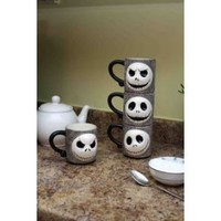 Nightmare Before Christmas Jack Skellington Sculpted Stackable Mugs