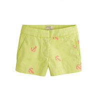 Girls&#x27; Frankie short in embroidered anchor - patterns - Girl&#x27;s shorts - J.Crew
