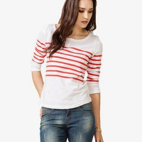 Essential Boat Neck Striped Top | FOREVER 21 - 2030187168