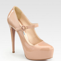 Prada - Mary Jane Patent Leather Platform Pumps