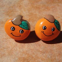 Super Kawaii Oranges Studs Earrings - Surgical Steel & Gift Packaged