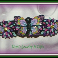 Barrette - Mulit colored Butterfly Barrette