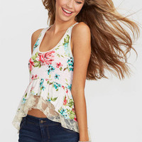 Lace Ruffle Tank