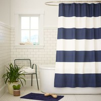 Stripe Shower Curtain - Dusty Navy