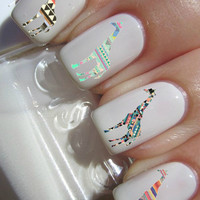 Tribal Giraffe Nail Decals