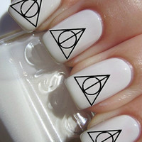 Deathly Hallows Nail Decal