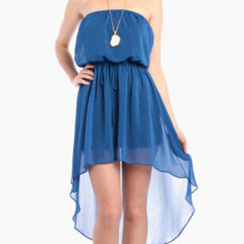 Night On The Beach Flow Dress in Blue