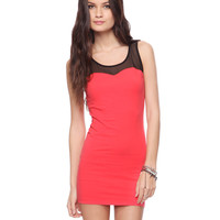 Mesh Yoke Sweetheart Dress | FOREVER21 - $8.50