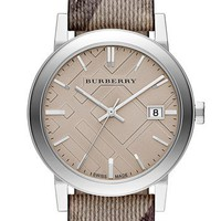Burberry Smoke Check Strap Watch, 38mm | Nordstrom