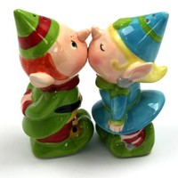 Kissing Elves - Salt & Pepper Shakers